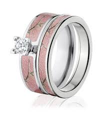 camo wedding ring realtree ap pink camo ring set camo after