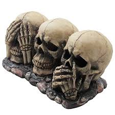 Medieval Decorations by No Evil Skulls Figurine For Scary Halloween Decorations And Spooky Skeleton Statues And Medieval Fantasy Home Decor Sculptures And Gothic Gifts 1 1000x1000 Jpg
