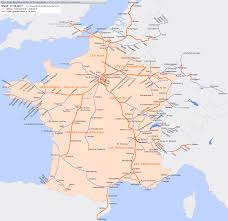 Lyon France Map Tgv Netz Schnellfahrstrecken Lignes à Grande Vitesse In Frankreich
