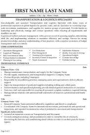 Quality Assurance Specialist Resume Logistics Resumes Resume Sample 22 Global Logistics Resume Career