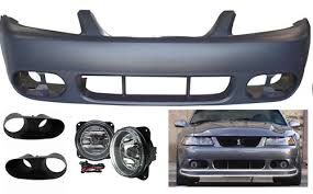 2003 04 mustang cobra fog light bezel kit 03 04 cobra style mustang front bumper with fog lights w bezels
