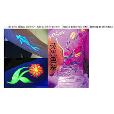 6 colors halloween neon body paint face painting drawing pigment