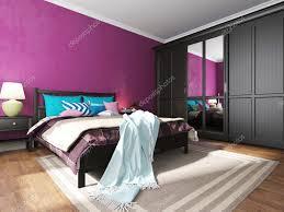 Schlafzimmer Einrichten Wie Im Hotel Einrichtung Mit Schwarzen Möbeln U2014 Stockfoto 74044829