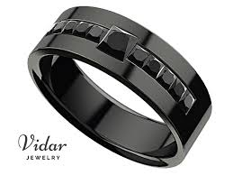 black diamond wedding band men s princess black diamond black gold wedding ring vidar
