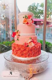peach ombre wedding cake peach wedding cake wedding cake flavors