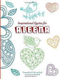 inspirational quotes for aleena personalized coloring book with