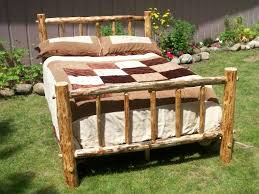 Bed Frame Rustic Wood Frames Tngnbw Within Full Size Plan 11