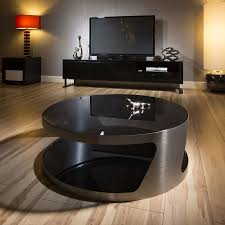 Large Round Coffee Table by Modern Designer Large Round Coffee Table Glass Top Stainless Steel