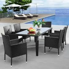 Stackable Wicker Patio Chairs Outdoor Black Wicker Outdoor Furniture Quality Black Compact Pc