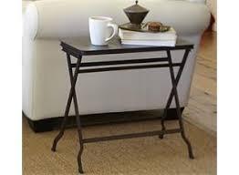carter metal folding tray table black traditional tv carter metal folding tray side table pottery barn home sweet home