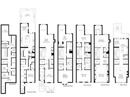 brownstone floor plans stylish inspiration 4 new york city townhouse floor plans brownstone