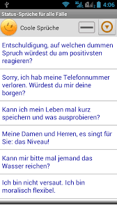 status sprüche whatsapp status sprüche für alle fälle android apps auf play