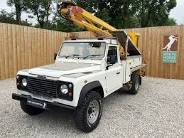 white land rover defender land rover defender 130 td5 lift platform white horse motors