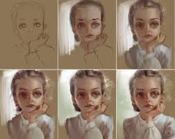 gallery portrait painting instructions drawings art