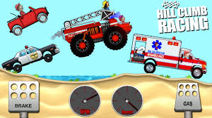 hill climb racing monster truck hill climb racing police car fire truck ambulance best game