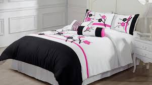 bedding set grey bedspread beautiful bedroom wonderful black