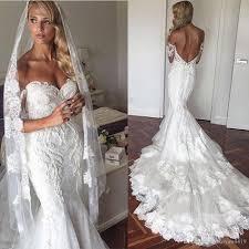 custom wedding dress mermaid wedding dresses 2017 new shoulder lace appliques
