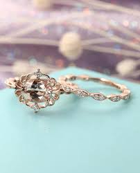 engagement rings sets vintage morganite engagement ring set deco antique engagement