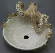 octopus decor octopus sink bowl ceramic sculpture i know the man that makes