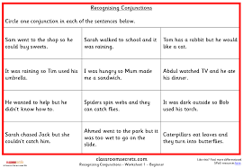 recognising conjunctions ks2 spag test practice classroom secrets