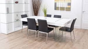 White Oak Dining Room Set - chunky white oak dining table with glass legs trendy faux