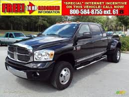dodge ram mega cab dually for sale 2007 dodge ram 3500 laramie mega cab 4x4 dually in brilliant black