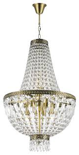 French Empire Chandelier Lighting French Empire 6 Light Antique Bronze Finish Clear Crystal Basket