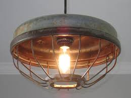 chicken feeder industrial pendant light u2013 out of the woodwork designs