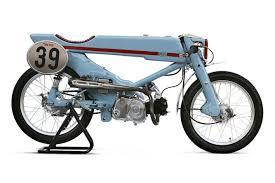 tuner honda japanese tuner turns honda super cub into vintage racer