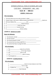evs worksheets for grade 2 cbse english worksheets class 1 nouns