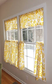 Blue And Yellow Kitchen Curtains Decorating Kitchen Design Ideas For Kitchen Curtains Window Treatment