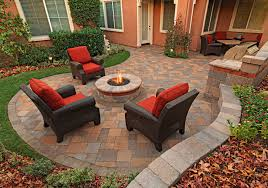 Stone Patio With Fire Pit Living Room Curtain Designs Patio Modern With Paving Stone Fire