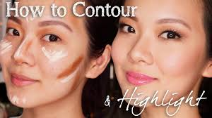 how to contour and highlight for asian features youtube