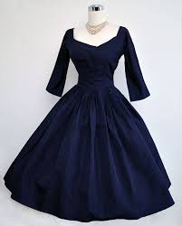 1950 u0027s navy blue silk cocktail dress vintage glamour pinterest