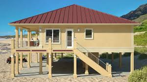 Stilt House Floor Plans Clearview 2400p U2013 2400 Sq Ft On Piers Beach House Plans By Beach