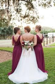 david u0027s bridal bridesmaids in long strapless ruffle drape burgundy