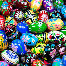 painted wooden easter eggs wooden easter eggs ebay