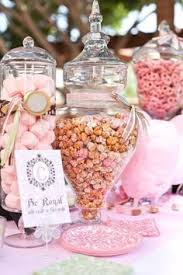 Candy Buffet Apothecary Jars by Light Pink Candy Buffet Pink Candy Table Ideas Party City