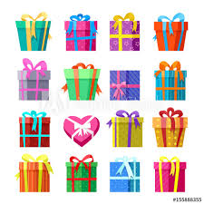 where to buy boxes for presents present pack icon set gifts or presents boxes vector illustration