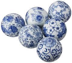 Ceramic Garden Spheres Amazon Com Oriental Furniture 3