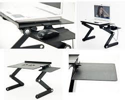 Laptop Folding Desk by Adjustable Vented Laptop Table Icraze Laptop Stands