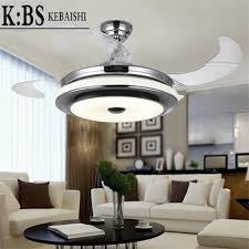 leaf ceiling fan with light kbs 42 leaf invisible electric led dimmable ceiling fan light for
