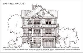 Custom Plans 2949 5 Island Oaks Front Outerbanks Custom Plans The Coastal