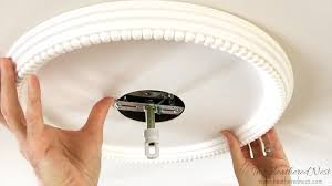 Wiring A Ceiling Light How To Install Ceiling Medallions The Heathered Nest