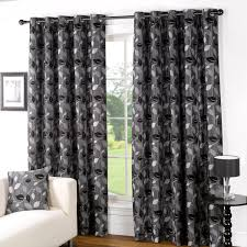 Charcoal Grey Curtains Allen Lined Eyelet Curtains
