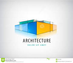 vector abstract 3d architecture sign building plan logo house