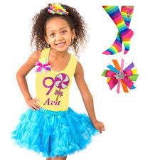 lollipop shirt girls blue tutu 4pc set u2013 bubblegum divas store