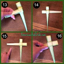 palm sunday crosses how to fold the palms from church into a cross everyday best