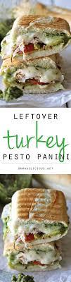 leftover thanksgiving turkey pesto panini damn delicious