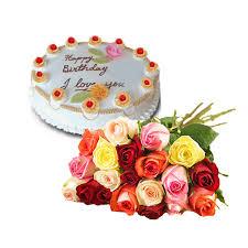 Birthday Delivery Mix Rose Bouquet And Cake Romania Floriladomiciliu Ro Fast
